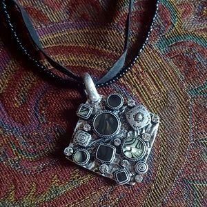 Sarah Coventry Silver Unique Multi-Stone Necklace